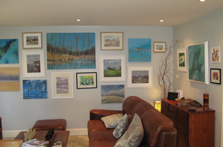 Pat Tinsley Norfolk artist in studio