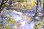 13-035 - Way Through the Blue - £98 - Watercolour on W/C Paper White mount 45x35cm