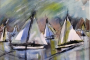 13-111 - Sail Reflections II - Watercolour on W/C Paper - £65.00 - 45x35cm Mounted
