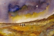 14-004 - Storm Clearing Hunstanton -  £68 - Watercolour on W/C Paper - White mount 35x28cm