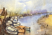 14-017 - Boats at Blakeney - SOLD