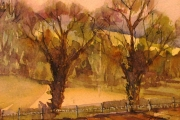 14-027 - Spring Light - £62 - Watercolour on W/C Paper - White mount in White frame 25x20cm