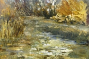 14-064 - Afternoon Light on the Bure - £315 - Oil on Board- Gold/Spec frame 36x32cm