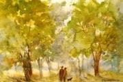 14-078 - Autumn Walk - £68 - Watercolour on W/C Paper - Whitemount 35x28cm
