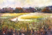 15-008 - Light on the River Bure - £135.00 - Watercolour on W/C Paper - Mounted 45x35cm in Black frame