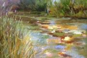 15-027 - Kingfisher Run - £270.00 - Acrylic on Board in Oak frame 38x38cm