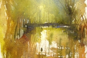 15-031 - Early Morning on the River Ant - £99 - Watercolour on W/C Paper - Mounted in oak frame 35x28cm