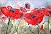 160-006 - Meadow  View - £37.50 - Watercolouron W/C Paper - Mounted25x20cm