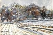 160-007 Lammas Winter Track £37.50 Watercolour on W/C PaperMounted 25x20cm