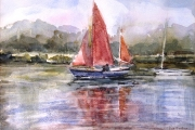 160-009 Red Sails at River Thurne SOLD