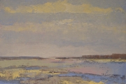 160-011 Titchwell - Oil Sudy £135.00 Oil on Board 25x25cm