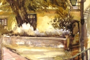 160-026 - Tombland Alley - Norwich - £112.50 - Watercolour on W/C Paper - Mounted 50x40cm