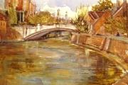160-028 - A Riverside Walk - Norwich - £145.50 - Watercolour on W/C Paper - Mounted 50x40cm in * Black frame *
