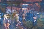 160-037 - Moonlit Teasels II - £37.50 - Watercolour on W/C Paper - Mounted 25x20cm