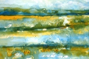 160-043 - Happisburgh Shoreline - £82.50 - Watercolour on W/C Paper - Mounted 40x30cm